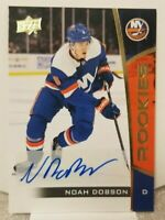 2019-2020 UPPER DECK NOAH DOBSON #13 NHL ROOKIE AUTO SIGNED HOCKEY CARD