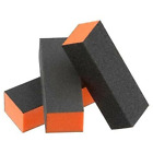 Black Grit Orange Sanding 3-Way 80/80/100 Nail Buffer Blocks - Choose Any