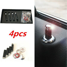 4Pcs 100% Real Carbon Fiber Auto Car Interior Dash Door Lock Handles Knob Pins