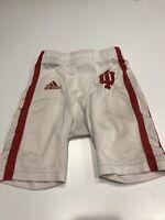 Game Worn Used Indiana University Football Pants.White Dbl Stripe On Sides SZ M