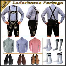 Oktoberfest German Bavarian Trachten Men 4 Pcs Short Lederhosen Package Set Sv22