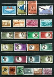 Indonesia - 26 MH stamps 1960-1963