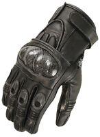 Biker Motorrad Leder Handschuhe Herren Motorrad Carbon Protektor Handschuhe Neu