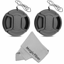 (2-Pack) 58mm Snap-On Center Pinch Lens Cap with Holder Leash