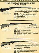 1965 Print Ad of Harrington & Richardson H&R Model 750 Pioneer 865 & 755 Rifle