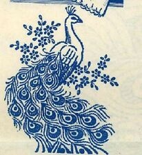 Hand Embroidery Transfer 622 Peacocks for Pillow Cases Towels Vanity Scarf Cloth