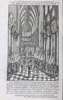 Rare Gravure 1791 Notre Dame de Paris Assemblée Nationale  Louis 16  Révolution