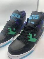 Sneakers Men's Converse ERX 260 Mid Top Black Court Purple Leather164386C SZ 7.5
