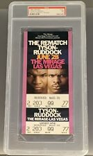 "Mike Tyson vs Razor Ruddock ""The Rematch"" FULL Ticket (PSA)"