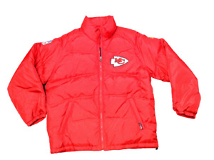 Mens NFL Football Reebok Kansas City Chiefs Onfield Puffy Winter Jacket Coat