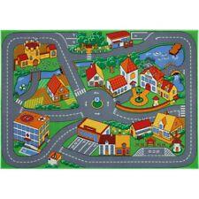Teppich Stra�Ÿenteppich Quiet Town Stra�Ÿe Stadt Kinderteppich 95x133 cm bunt