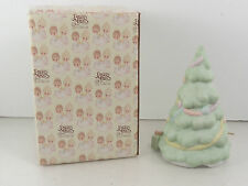 Precious Moments Figure 1985 Silent Night Christmas Tree with Music Item 15814
