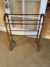 Antique Vintage Oak Quilt Blanket Rack Stand