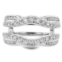 3.50 Ct Round Diamond Enhancer Wedding Engagement Wrap Band Ring 14K White Gold