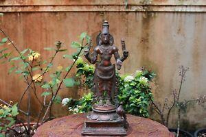 Kartikeya Statue Bronze Hindu God Muruga Sculpture Peacock Vintage Pooja Idol