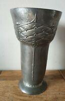Antique Art Nouveau Secessionist movement pewter vase