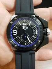 GV2 Grande by Gevril Men's 9403 Luminous Black Dial Black Silicone Date Watch