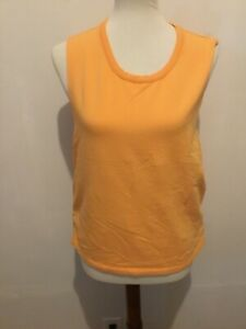 Athleta Women's Size L Sweatshirt Tank Top  Orange Athletic