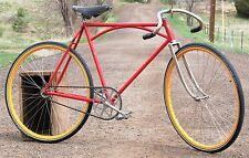 "Prewar Iver Johnson Truss Road Race Track Bicycle Vintage 28"" Wheel Cruiser Bike"