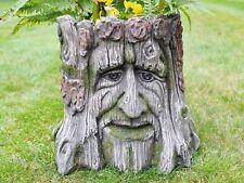 Garden Planter Tree Stump Green Man of The Forest Flower Pot Garden Ornament NEW