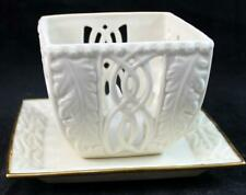 Lenox ILLUMINATIONS COLLECTION Luminary Tea Light w/Square Base GREAT CONDITION