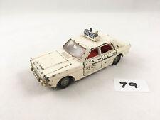 VINTAGE DINKY TOYS # 255 FORD ZODIAC POLICE PATROL CAR DIECAST WHITE 1967-71