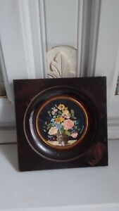 Antique French Miniature Still Life Floral Flowers  - Exquisite