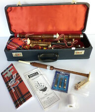 Adult sized Bagpipe Kit supplied with Hard Case, Practice Chanter, Reeds & Book