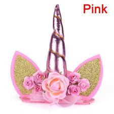 1x Glitter Unicorn Horn Headband Kids Unicorn Party Hair Accessory Decorative SE