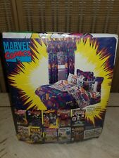 New! Vintage 1994 Marvel AVENGERS, INCREDIBLE HULK Twin Fitted, Flat Sheets Set