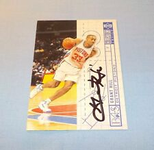 Grant Hill Signed Autographed 1994 Upper Deck Collector's Choice Card Pistons