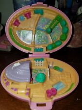 Vintage 1995 Bluebird Polly Pocket Pink Shetland Pony Horse Stable Compact Only