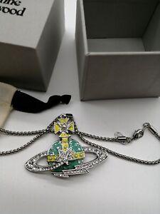 Vivienne Westwood Green Orb Necklace