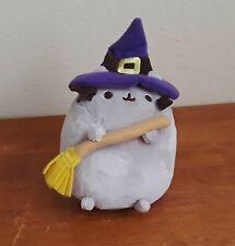 "Gund Stuffed Pusheen Cat Halloween Witch Plush Toy 5.5"" tall"