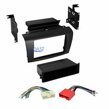 Single 2 DIN Car Radio Stereo Dash Kit Wire Harness Combo for 2004-2009 Mazda 3