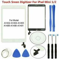 Replacement White Screen Digitizer For iPad mini 1 2 Touch Glass IC Home Button