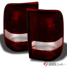 For 93-97 Ranger Smoked Red Tail Lights Replacement Assembly L+R Set