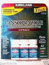 Kirkland Signature LANSOPRAZOLE Delayed-Release 15mg 42 Capsules *Acid Reducer*