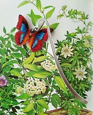 Red Blue Butterfly Metal Bookmark For insect lovers Gift Idea 8.5cm.