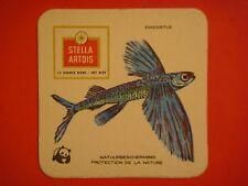 Beer Pub Coaster: Stella Artois ~ Exocoetus ~ Peruvian Flyfish  ~ Protect Nature