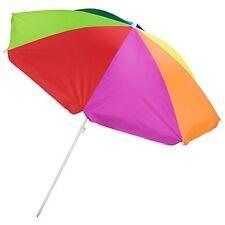 6-foot Rainbow Beach and Patio Umbrella with Adjustable Height