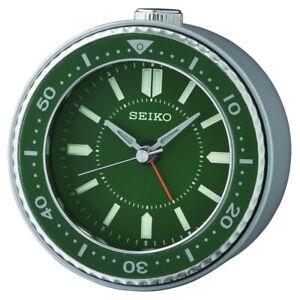 [100% Seiko] QHE184 Bedside Alarm Clock 4 colors snooze,beep,light+FREE SHIP~NEW