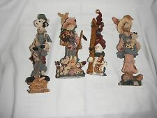4 boyd's bears folkstone collection 8 inch resin 1994-1998