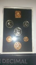 1971 Royal Mint First Decimal Proof Coin Set - Black & Silver Dotted Wallet