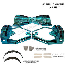 "TEAL CHROME 8"" Hoverboard Parts Plastic Shell - Sweg Case 8 Inch Frame UK"