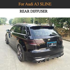 Carbon Diffusor Heckschürze Spoiler Lippe Für Audi A3 S-line Hatchback 2014-2015