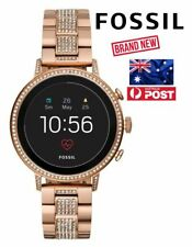 Fossil Q Venture HR Smartwatch Rose Gold Stainless Steel 40mm Brand New AU Post