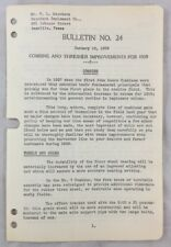1939 Antique John Deere Bulletin / Combine And Thresher Improvements