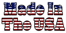 Wholesale Lot of 6 Made In The USA Rectangle USA Flag White Decal Bumper Sticker