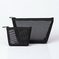 Bag Zipper Storage Makeup Bags Cosmetic Pouch Travel Organizer Mesh Package